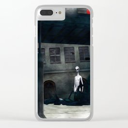 Alien in Our Midst Clear iPhone Case