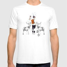 The Wilderness White SMALL Mens Fitted Tee