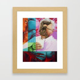 Daddy Wants Milk Framed Art Print