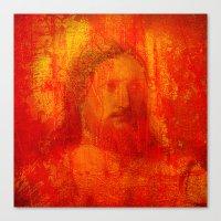 jesus Canvas Prints featuring Jesus by Joe Ganech