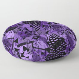 Abstract ethnic pattern in black, purple colors. Floor Pillow