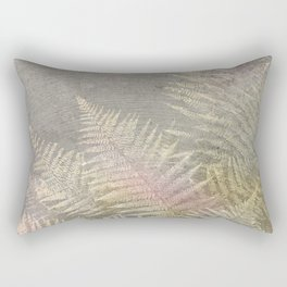 Fossil Rose Gold Fern on Brushed Stone Rectangular Pillow