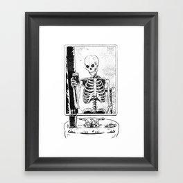 Skelfie Framed Art Print