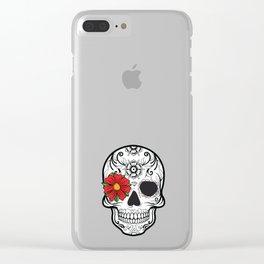 Day of the Dead Skull graphic Calavera Cinco de Mayo design Clear iPhone Case