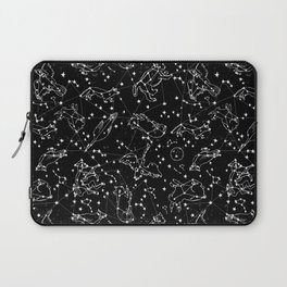 Constellations animal constellations stars outer space night sky pattern by andrea lauren black Laptop Sleeve