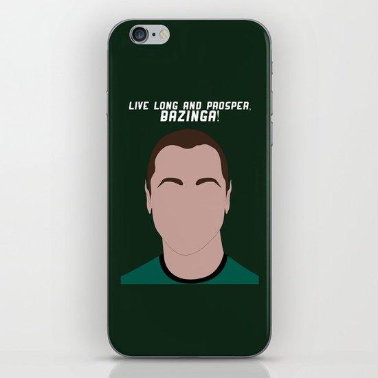 Live Long and Prosper, Bazinga! iPhone & iPod Skin