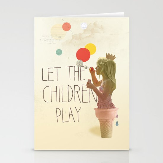 Let the children play Stationery Cards