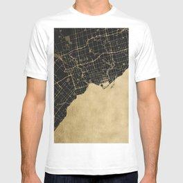 Toronto Gold and Black Street Map T-shirt