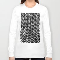 lawyer Long Sleeve T-shirts featuring Hand Knitted Black S by Project M