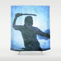 samurai Shower Curtains featuring Samurai by Deprofundis