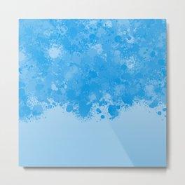 paint splatter on gradient pattern wb Metal Print