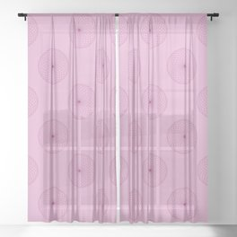 Centered in Strawberry Sheer Curtain