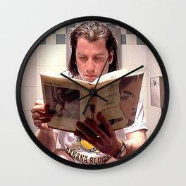 Pulp Fiction Movie Poster - Vincent Vega Print - Funny Bathroom Wall Clock