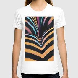 2026s-AK Striped Body Curves by Chris Maher T-shirt