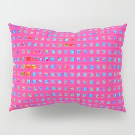 Neon Party Shapes: Abstract Design Pillow Sham
