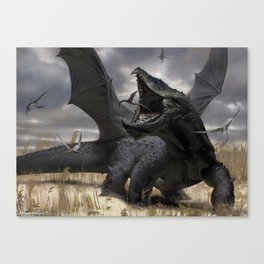 Dragon Hunt Canvas Print