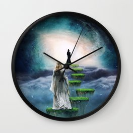 Journey to Happiness Wall Clock
