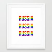 russia Framed Art Prints featuring RUSSIA by Beauty Killer Art