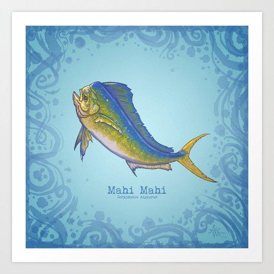 Mahi Mahi ~ Coryphaena hippurus Art Print