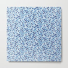 MOSAICS: BLUE GREECE Metal Print
