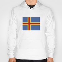 finland Hoodies featuring aaland country flag finland by tony tudor