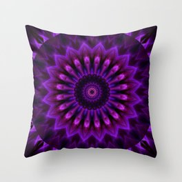 Mandala Crownchakra Throw Pillow