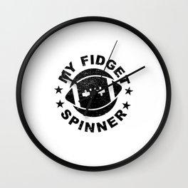 Football Gift Idea My Fidget Spinner Wall Clock