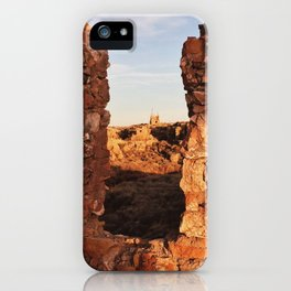 Two Guns Ghost Town Window View iPhone Case