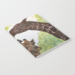 Giraffe Love by Maureen Donovan Notebook