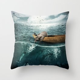 One summer day... Throw Pillow