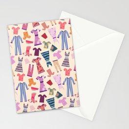 Dress Papercut Pattern - baby Yellow Stationery Cards