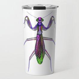 Purple Neon praying Manti Travel Mug