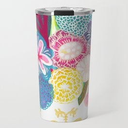 Neon Flowers Travel Mug