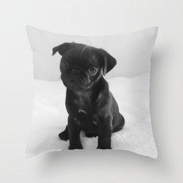 Pug Mitxiru Throw Pillow