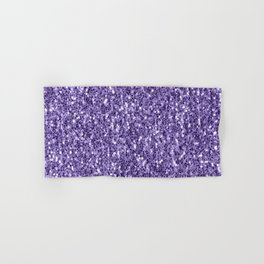 Ultra violet purple glitter sparkles Hand & Bath Towel