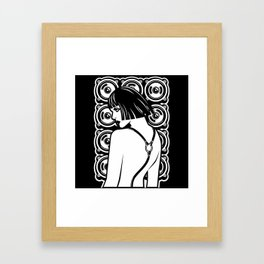 Harness Girl Framed Art Print