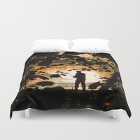 fishing Duvet Covers featuring Fishing by Svetlana Korneliuk
