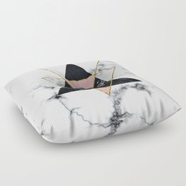 Geo glam marble Floor Pillow