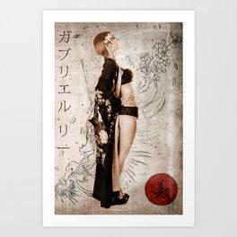 Geisha Beauty Art Print