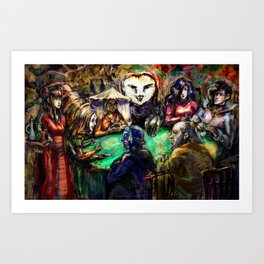 Pokerface Art Print