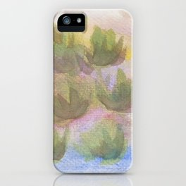 Green Lotus iPhone Case