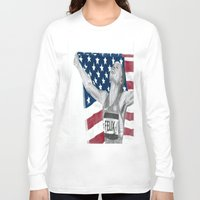 allyson johnson Long Sleeve T-shirts featuring Allyson Felix by Moira Sweeney