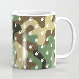 CAMO & WHITE BOMB DIGGITYS ALL OVER LARGE Coffee Mug