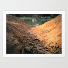 Down Hill Art Print