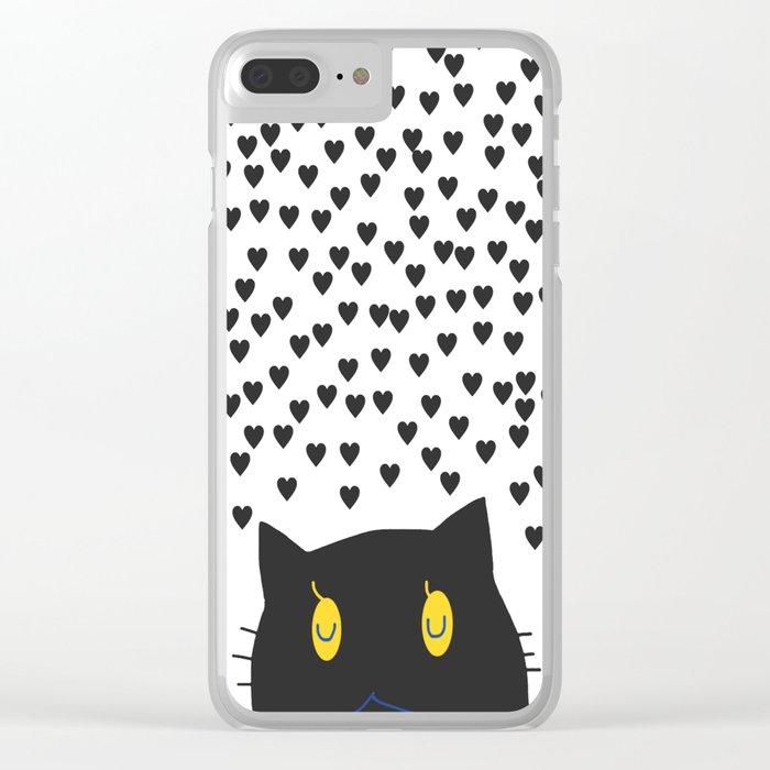 cat-155 Clear iPhone Case