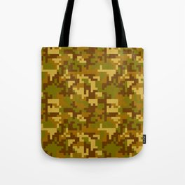 Green and Yellow Desert Army Camo pattern Tote Bag