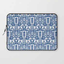 Swedish Folk Art - Blue Laptop Sleeve