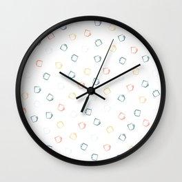 Colorful Hand Drawn Mugs Wall Clock