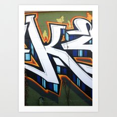 Graffiti in East Austin Art Print