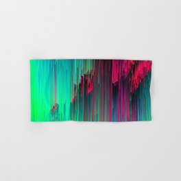Just Chillin' - Abstract Glitchy Pixel Art Hand & Bath Towel
